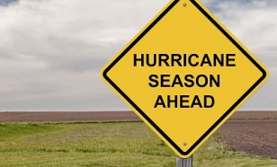Caution Sign - Hurricane Season Ahead