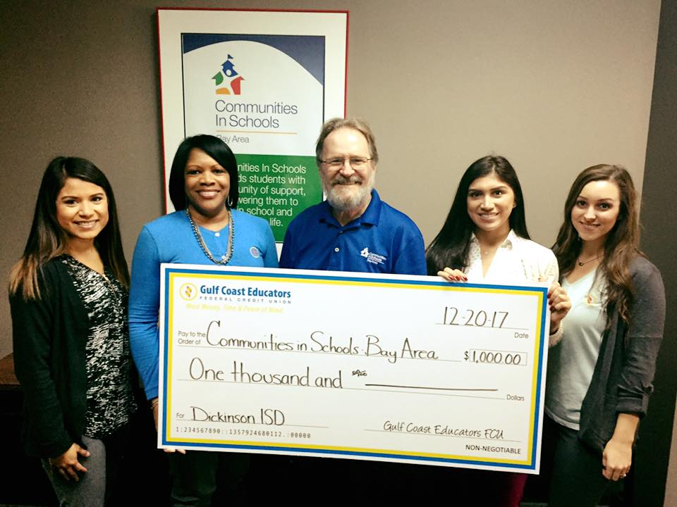 Communities in schools Bay Area check donation