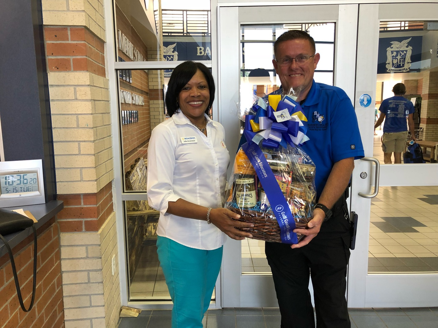 GCEFCU employees at Barbers Hill ISD