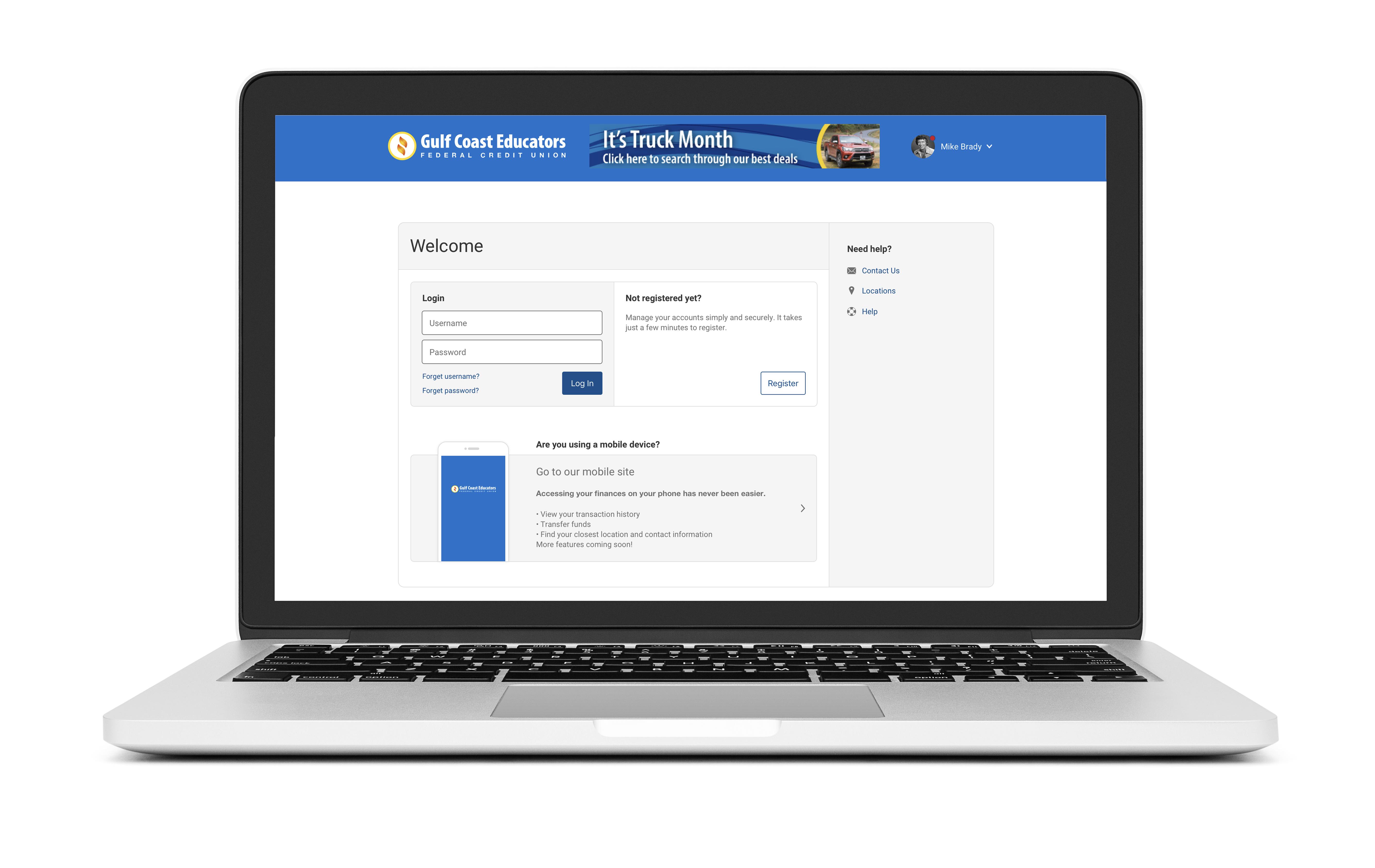 Online banking image