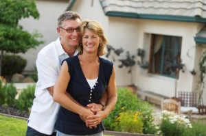 Couple buying home