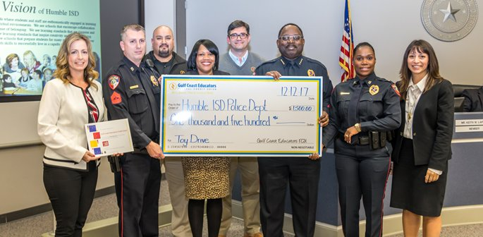 Humble ISD Police check donation