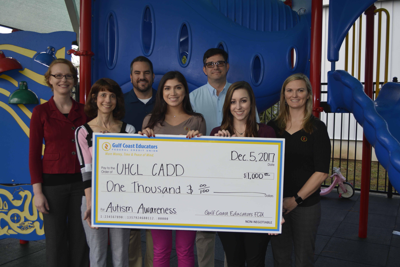 UCHL CADD check donation