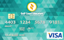 Teal debit card