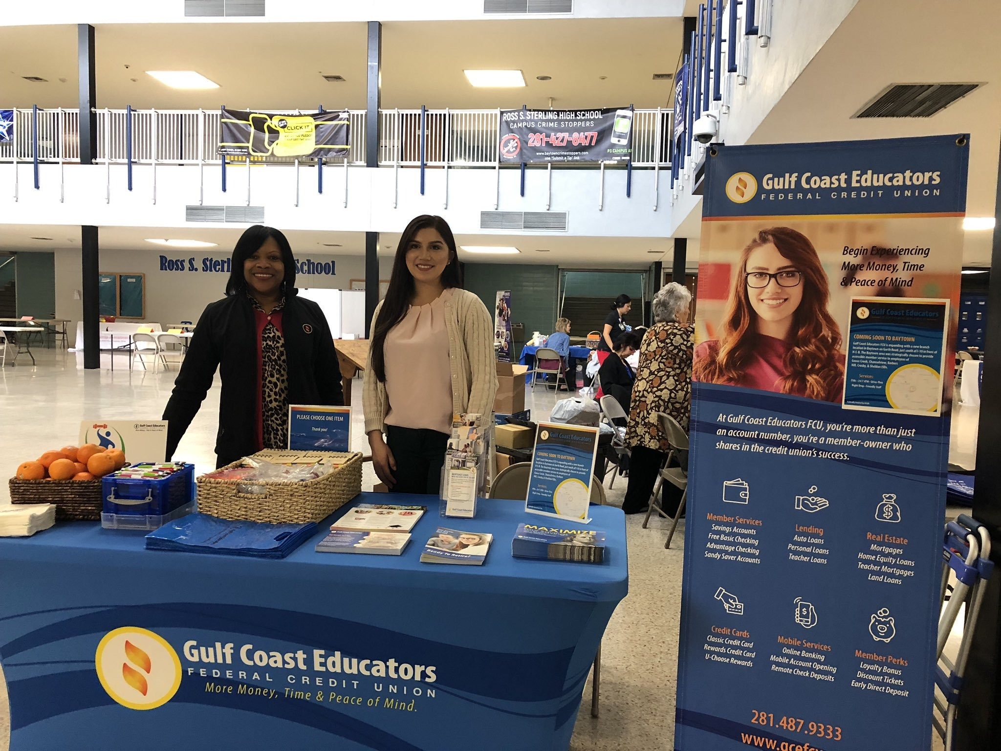 GCEFCU employees at Goose Creek CISD Wellness Fair