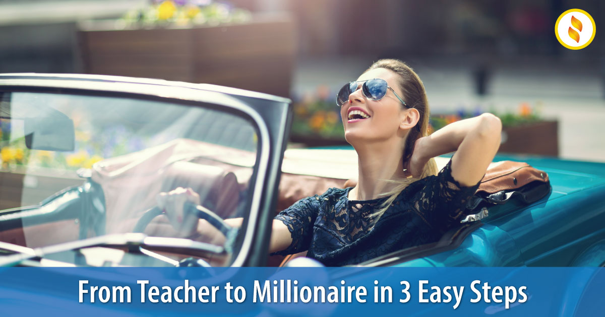 From teacher to millionaire image