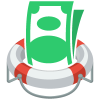 money in lifesaver image